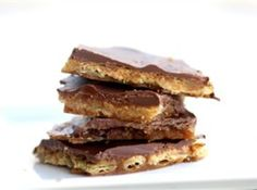 Saltine Cracker Toffee so good:) - i think i might have to try this!!!
