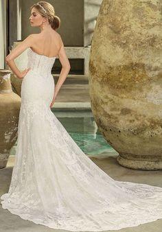 6fe0b5d9cf9 Casablanca Bridal Style 2294 Avery Mermaid Wedding Dress Lace Fishtail Wedding  Dress