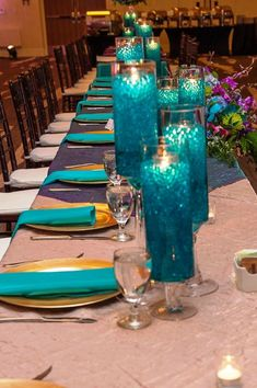 Purple and Teal Wedding Decorations