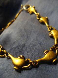 Aladdin Genie Lamp Bracelet... brass or silver!