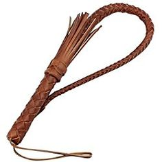 Vococal - 80cm Largo Látigo de Cuero Manija Toro para Trajes Cosplay de Equitación,Marrón