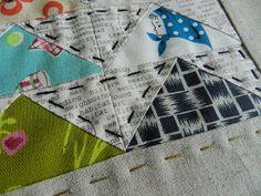 Big stitch quilting.
