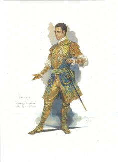 Costume designs by Robert Perdziola for the Fort Worth Opera's production of Julius Caesar.