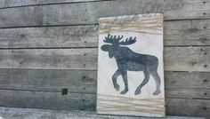 """MOOSE Wooden Distressed Sign 12""""x16"""" +ADD Wooden Frame by CountrysideMacs on Etsy"""