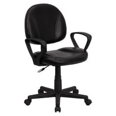 I'm learning all about Office Chair: Belnick Mid-Back Ergonomic Leather Chair - Black at @Influenster!