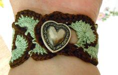 Crochet Bracelet Crochet Jewelry Bohemian Boho by Italianwench, $12.00