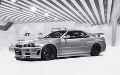 Download Wallpapers Nissan GTR R34, Sports Coupe, Japanese Sports Cars, Nissan  Skyline,