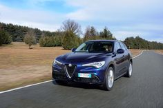 Alfa Romeo will unveil more pedestrian variants of the Stelvio crossover, which will slot below the fire-breathing Quadrifoglio model, in New York. The base 2018 Alfa Romeo Stelvio and the Stelvio Ti