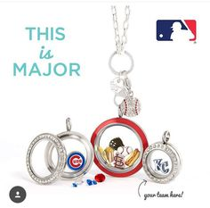 Batter up another season for your Origami Owl Living locket.