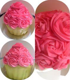 Giant cupcake vanilla buttercream
