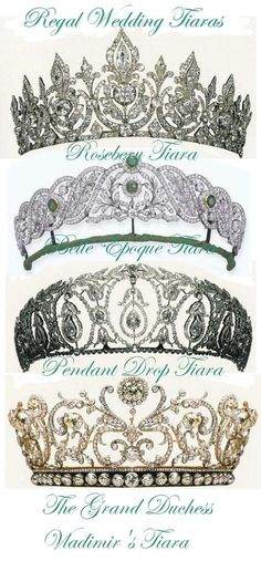 Tiaras of British Royal Family  I love the top one and the third one down ❤