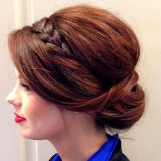 Braided Updo : Smooth and Sleek Updo