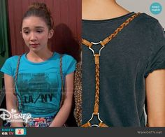 Riley's braided harness on Girl Meets World.  Outfit Details: http://wornontv.net/49921/ #GirlMeetsWorld