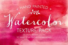 Check out Watercolor Texture Pack by MakeMediaCo. on Creative Market. Watercolor Textures.