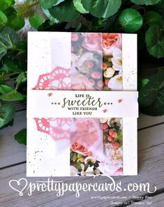 Stampin' Up! Petal Promenade and Detailed With Love - Peggy Noe - stampinup