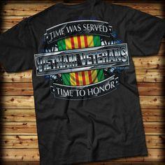 "7.62 Design Vietnam Veterans ""Time Served"" T-Shirt [ EgozTactical.com ] #fashion #tactical #survival"