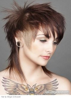 punk haircuts for women | glam layered punk hairstyle punk hairstyles gallery