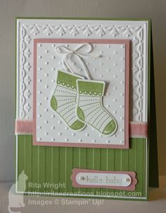 Cute layout for a baby card.