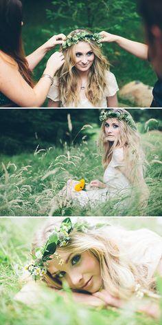 I LOVE the shot on the bottom // James-Melia-Daisy-Headband