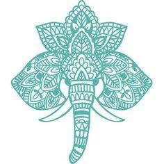 Original hand drawn design from Wild Pilot. Elephant Stencil, Mandala Elephant, Elephant Logo, Mandala Stencils, Arts And Crafts, Paper Crafts, Mandala Drawing, Window Decals, Vinyl Designs
