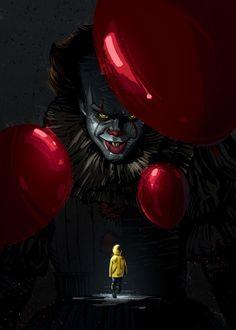 'Evil Clown' Metal Poster Print - Nikita Abakumov | Displate