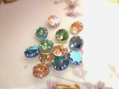 5 Vintage Rare approx 8mm Faceted Scallop by FindingYourElement