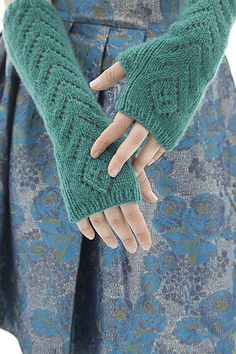 Ravelry: Wicked Flower Stitch Gloves pattern by Cecily Glowik MacDonald