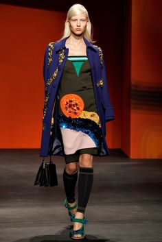 Prada Spring 2014 Ready-to-Wear Fashion Show - Sasha Luss