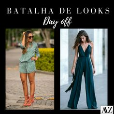 BATALHA DE LOOKS  MACAQUINHO X MACACÃO Jumpsuit, Dresses, Fashion, Battle, Overall Shorts, Simple, Women, Style, Overalls