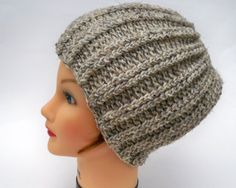 Crochet Rib Hat  Wool Blend Chunky Unisex by BettyMarieJones, $25.00