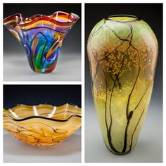 Glass blown vases are a great wedding gift.