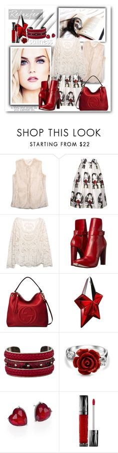 """RelaxFeel18"" by sneky ❤ liked on Polyvore featuring Relaxfeel, COSTUME NATIONAL, Gucci, Thierry Mugler, Tod's, Bling Jewelry, Adriana Orsini and Urban Decay"