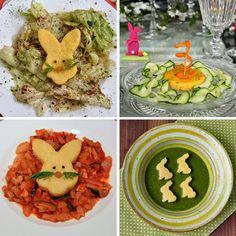 Polenta Hasen auf Gemüse, Salat oder als Suppeneinlage - im Oster-Kleid #vegan - Freude am Kochen
