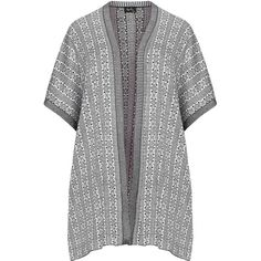 Replace Black / Light-Grey Plus Size Jacquard knit cardigan (€58) ❤ liked on Polyvore featuring tops, cardigans, black, plus size, plus size cardigans, oversized knit cardigan, short sleeve cardigan, women's plus size tops and patterned cardigans