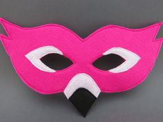 Felt Flamingo Mask Bird Mask Masquerade by herflyinghorses
