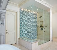 Image result for teal accent shower wall
