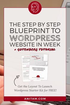 [FREE STARTER KIT]  Ready to launch an awesome website, blog or online shop with #WordPress but don't know where to start? Worry not, the step-by-step blueprint to WordPress will show you how it can be done. Head over to #WEBSITEinWEEK & together we'll plan, design & launch your WordPress website in no time. #Layout2Launch #WebDesign #website #anitam.com