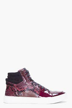 Yves Saint Laurent Raspberry Python Malibu Sneakers