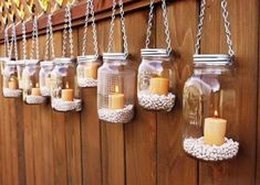 .I'd either put citronella or just summer colored votives and sand!  :) #creative