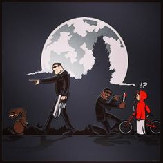 Photo by theocast - Men in Black and E.T. #mashup