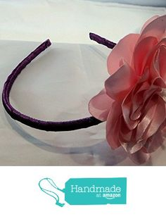 Big pink and purple flower headband for girls hand made from didagaijewelry http://www.amazon.com/dp/B019VQEGU8/ref=hnd_sw_r_pi_dp_1rFJwb1DFVVK5 #handmadeatamazon
