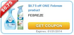 Set aside coupon savings for vacation spending money!  $0.75 off ONE Febreze product