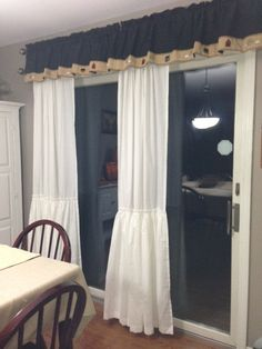 Ruffled Curtain  Farmhouse Shabby Chic Long by ShadesUpandCo