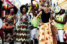 Vogue Brazil February 2013   Carmen Miranda Reloaded  Ph.: Giampaolo Sgura  Models: Mirte Maas, Suzane Massena and Suzana Massena  Styling: Anna Dello Russo  Hair: Andrew M. Guida  Make-Up: Jessica Nedza