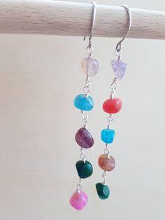 Colorful earrings Fancy earrings  Palette earrings Dangle