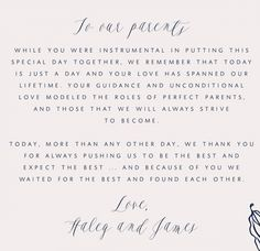 write a thank you to your parents more