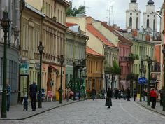 Live in my grandfather's city for a time--Kaunas, Lithuania.  This is a photo of the Laisvės Alėja, or Liberty Avenue, one of the longest pedestrian avenues in Europe.  I fell in love with Kaunas and felt right at home.