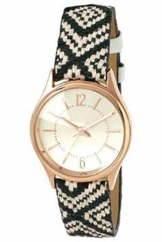 Monochrome aztec strap watch from Next Latest Handbags, Next Fashion, Next Uk, Uk Online, Summer 2014, Aztec, Women's Accessories, Monochrome, Bracelet Watch