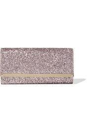 Jimmy Choo - Milla glittered leather clutch