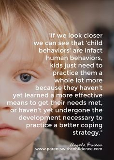 As it turns out we've been looking at child 'misbehavior' all wrong. Learn why kids engage in challenging behavior and why thinking of them as naughty or misbehaving won't help to improve their behavior or to discipline them (teach them). Gentle Parenting Quotes, Peaceful Parenting, Parenting Books, Parenting Advice, Discipline Quotes, Positive Discipline, Child Discipline, Dad Advice, Adhd Kids
